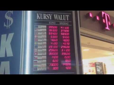 Особенности польских банкоматов, курс доллара.
