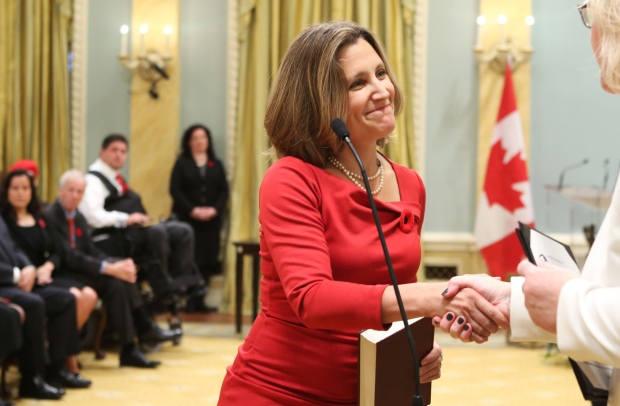 Министром иностранных дел Канады назначена Христя Фриланд, украинка по происхождению