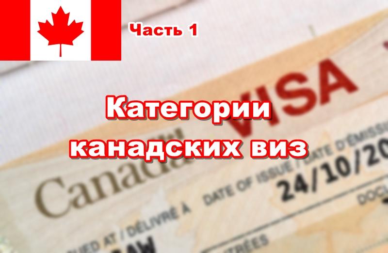 Виза в Канаду самостоятельно. Часть 1: категории канадских виз