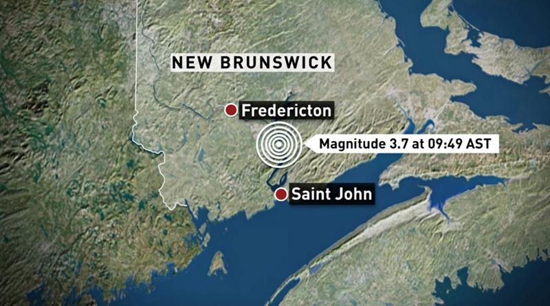 В Нью-Брансуике произошло землетрясение