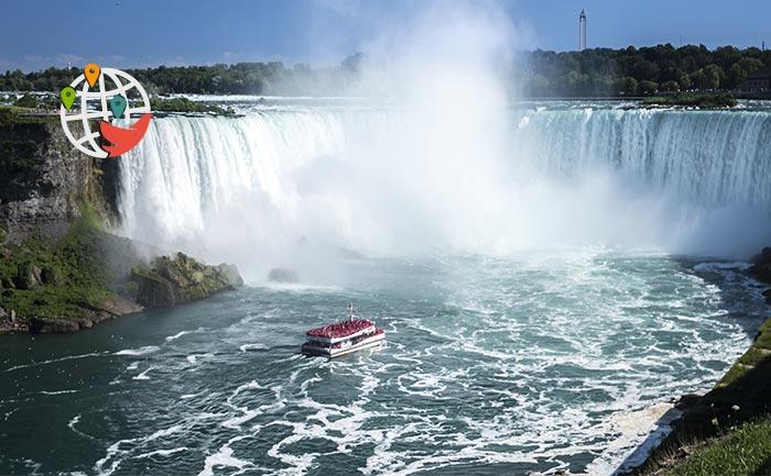 Американцы отличились на Ниагарском водопаде