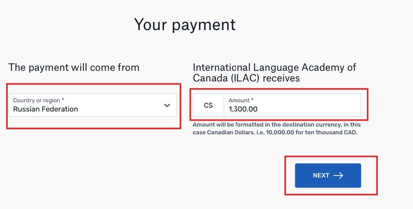 Оплата через банковский перевод Flywire