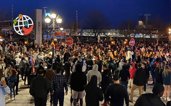 Протест в Монреале