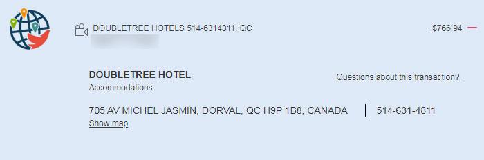 Выписка по карте по стоимости карантинного отеля