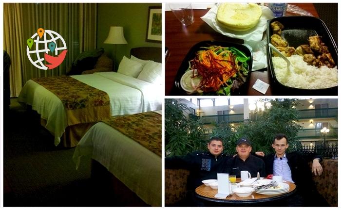 Мясник Артем Луков в гостинице