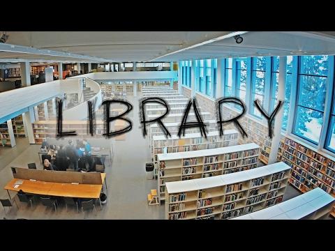 Тур по библиотеке университета в Финляндии