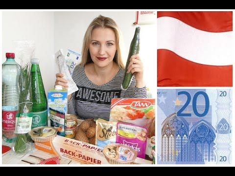 Цены и качество австрийских продуктов. Покупка на 20 евро в магазине SPAR.
